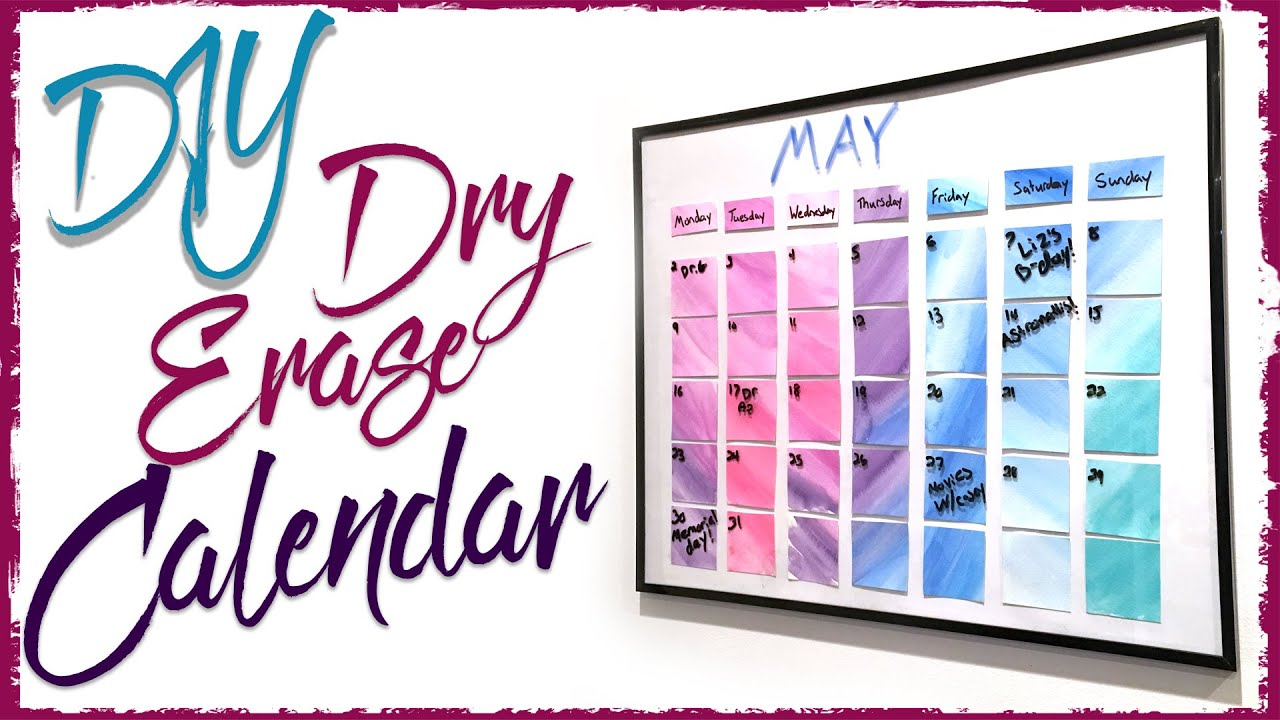 Dry erase watercolor calendar diy diving head first youtube solutioingenieria Image collections