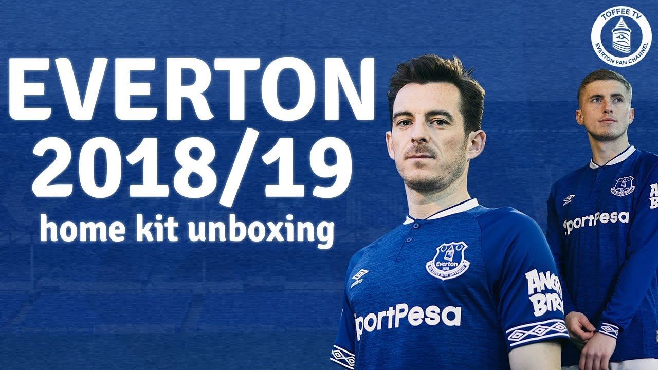 buy popular f6a61 cb567 Everton's 2018/19 Home kit UNBOXING!
