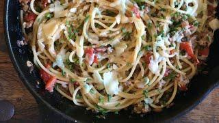 Mushroom And Chicken Parmesan Pasta