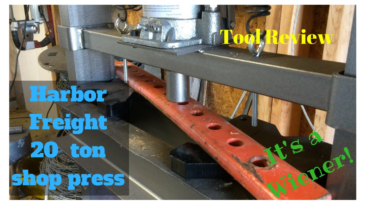 Review of Harbor Freight 20 ton shop press  FarmCraft101