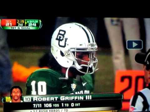Robert Griffin III gets hammered, then scores touchdown!