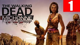 The Walking Dead Michonne Walkthrough Part 1 Episode 1 In Too Deep No Commentary PC HD 60 FPS