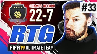 22-7 MY FINAL WEEKEND LEAGUE GAME! - #FIFA19 Road to Glory! #33 Ultimate Team