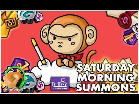 SUMMONERS WAR : Saturday Morning Summons LIVE - 1000+ Mystical & Legendary Scrolls - (4/1/17)