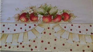 Pintura em Tecido – Aprenda Pintar Barrado Falso com Frutas