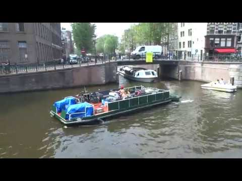 Boating on the canals in Amsterdam :  o.a Prinsengracht, IJ en Singel
