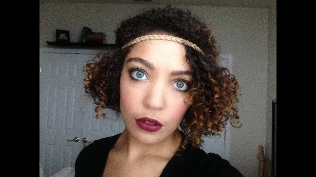 Flapper-Inspired Hairstyle On Naturally Curly Hair.