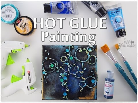 hot-glue-bubbles-painting-technique-for-beginners-♡-maremi's-small-art-♡
