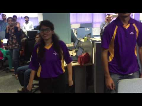 Flash mob at unisys Bangalore