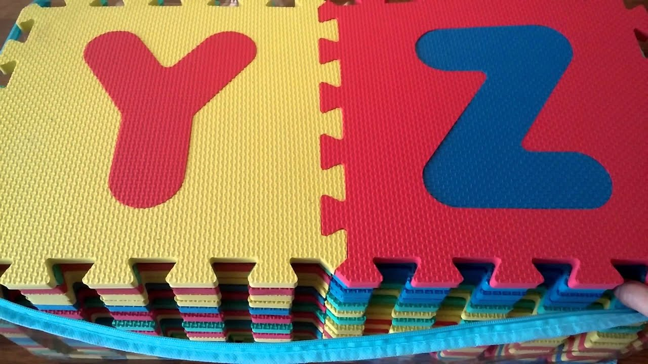 Alphabet and numbers foam puzzle play mat 36 tiles review youtube alphabet and numbers foam puzzle play mat 36 tiles review dailygadgetfo Images