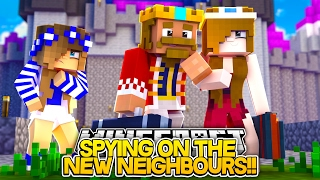 SPYING ON THE NEW ROYAL FAMILY w/Little Carly and Raven (Minecraft Roleplay)