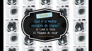 Teste: Qual é a melhor secadora para as roupas? Lava e Seca ou Máquina de secar? Thumbnail