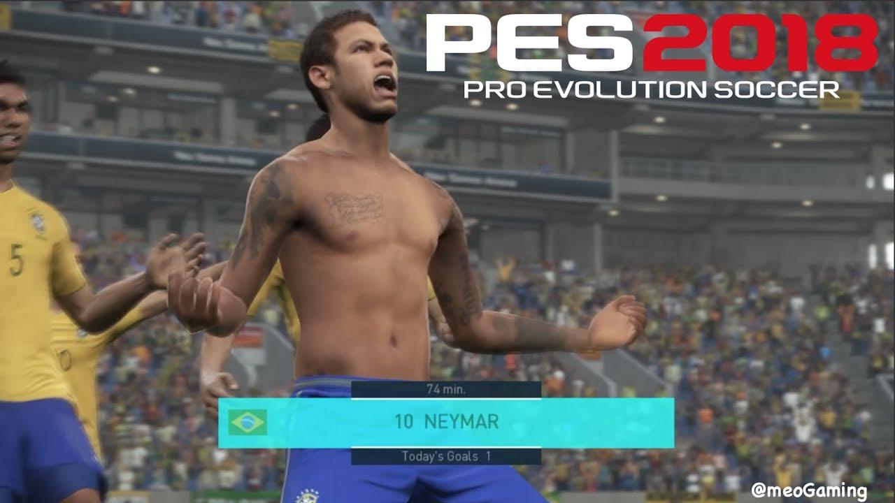 Pes 2018 neymar shirtless celebration strip off ps4 hd youtube pes 2018 neymar shirtless celebration strip off ps4 hd voltagebd Images