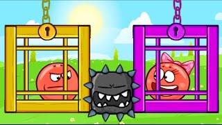 НОВЫЙ КРАСНЫЙ ШАРИК 4 - ПОДЗЕМНЫЕ ХОДЫ мультик игра для детей RED BALL 4 - Volume 5 INTO THE CAVE