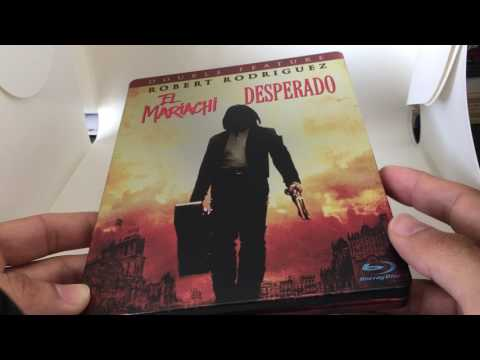 DESPERADO + EL MARIACHI GERMAN STEELBOOK BLU RAY REVIEW