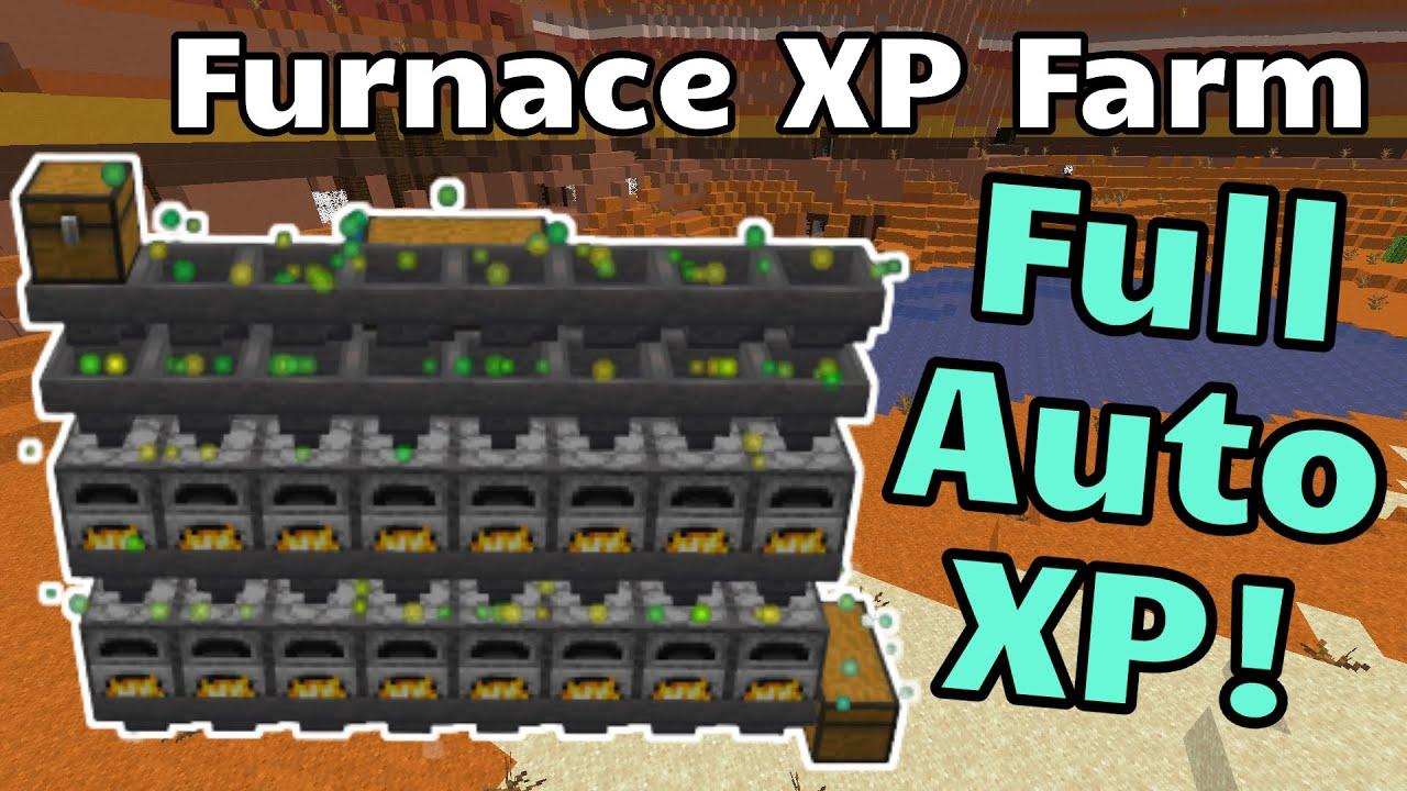 Full Auto XP Farm - Java 11.111+ (Furnace XP Farm) (Minecraft Java)