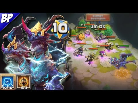 Castle Clash Double Evolved Demogorgon 10/10 Skill 6/8 War God Gameplay (Insane)