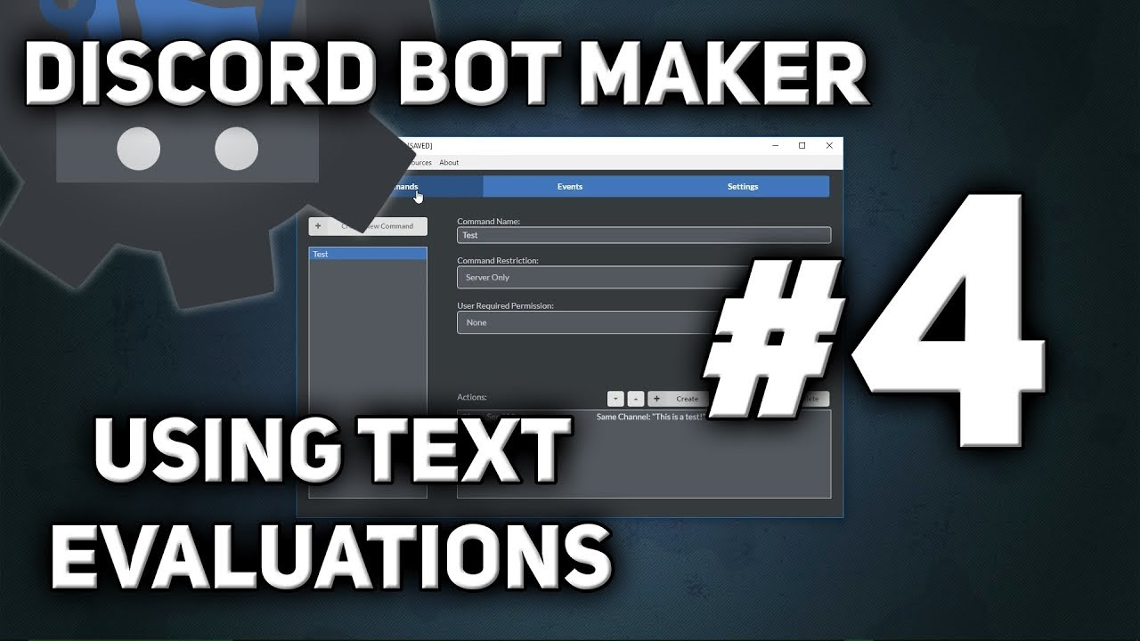 Discord Bot Maker Tutorial #4 - Text Evaluations