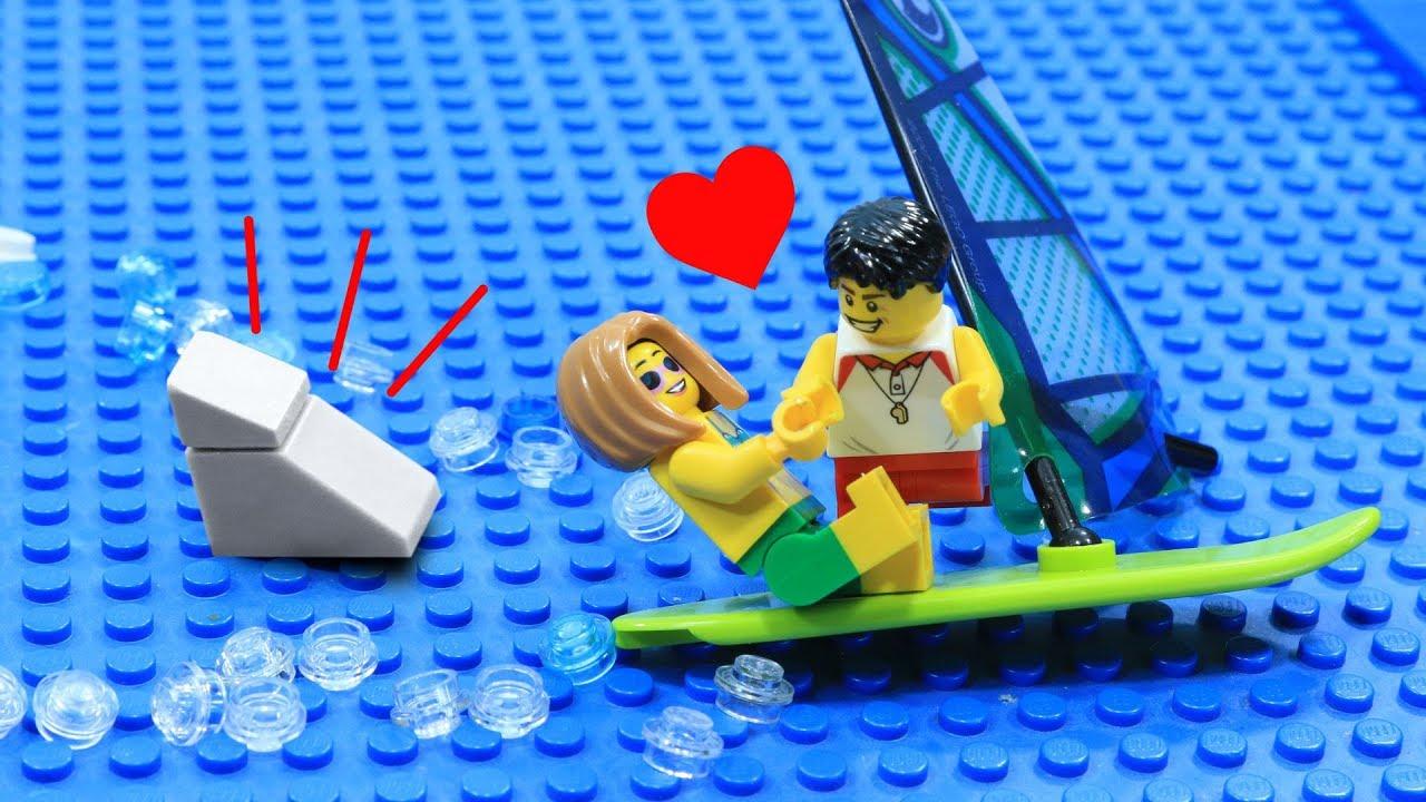 Lego Shark Attack: Love At The Beach - ViYoutube