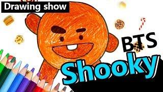 BTS 방탄소년단 슈가 Shooky 캐릭터 그리기! | 캐릭터 그리기 | [Drawing Show]