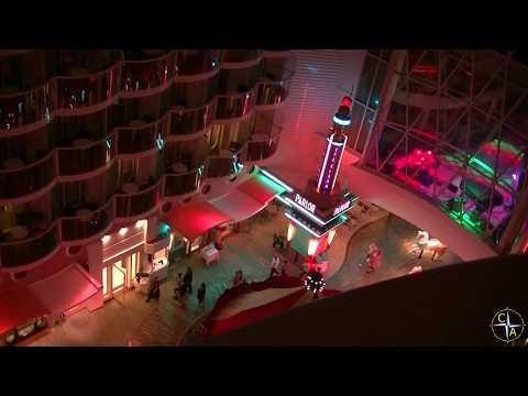 Boardwalk at Night on Oasis of the Seas - A Cruise Aficionados Cruise Escape