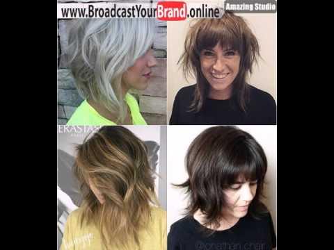 Shoulder Length Shag Haircuts - YouTube