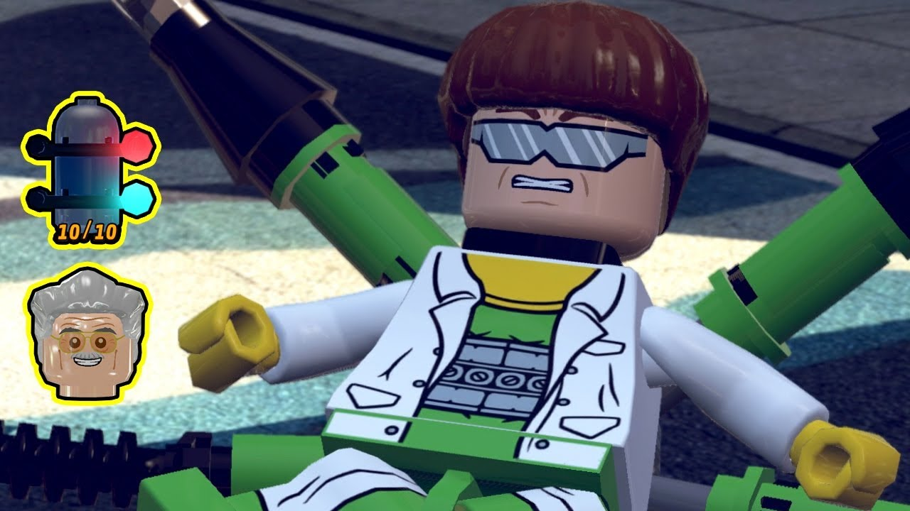 Lego Marvel Super Heroes 100 Walkthrough Times Square Off All Minikits Stan Lee In Peril Youtube
