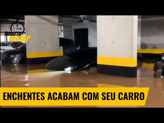 Água de enchente pode destruir seu carro