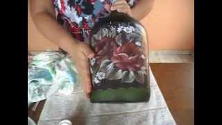 Como fazer decoupage em vidro