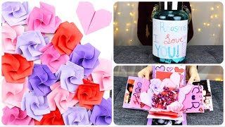 3 SIMPLE DIY VALENTINE'S DAY GIFT IDEAS! | 365 Reasons Jar, Exploding Memory Box, & Origami Canvas
