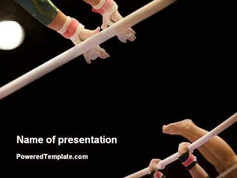 sport gymnastics powerpoint template by poweredtemplate