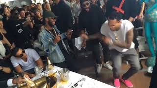 Download lagu Chris Brown Dances to African music On the Low (Angelina) by Burna Boy