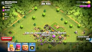 Clash of clans all barbarian attack (999 barbarians)