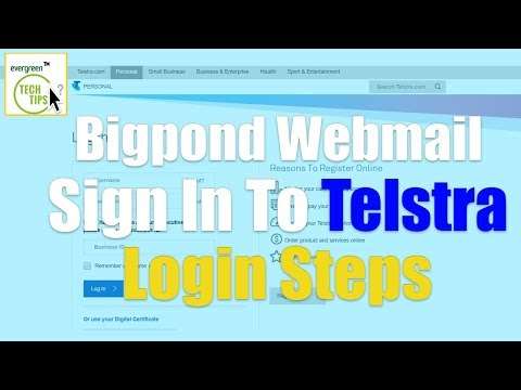 Bigpond Webmail Login - How To Login Sign In To Telstra