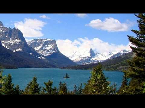 U Shaped Valley In Glacier National Park In Montana United States