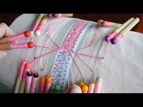 Плетение кружева на коклюшках для начинающих видео уроки