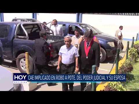 Chiclayo: Cae implicado en robo de Pdte. Del Poder Judicial y su esposa