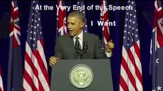 Devil Speaks in backwards Obama G20 speech