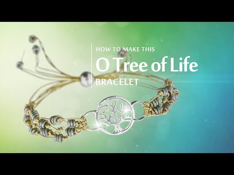 How to make this O Tree of Life Bracelet   Sterling Silver