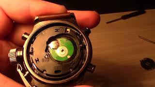Как поменять батарейку в часах AMST 3003. Реальное видео не фейк