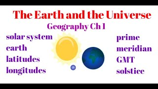 Chapter 1- The Earth and the Universe