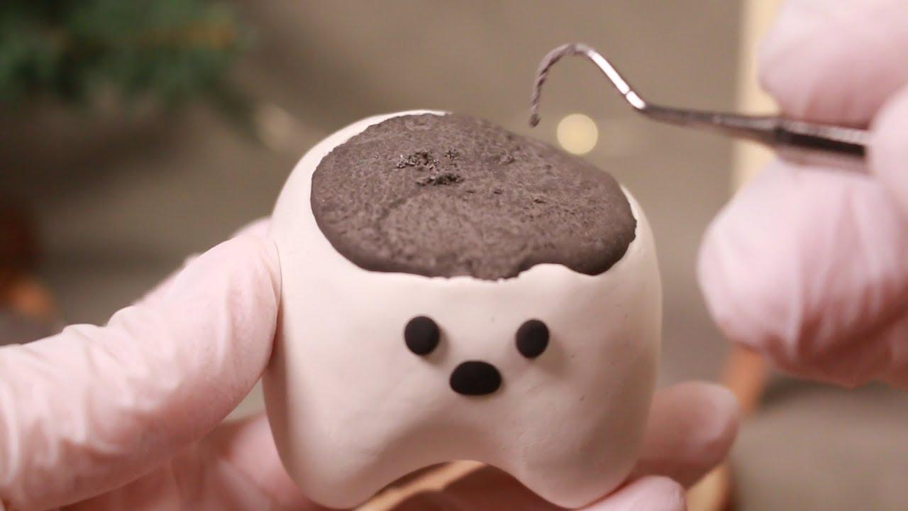 ASMR 잠이 솔솔 거인 치아 치료 상황극 ?  Feat. 숲속치과 ?/ Giant Teeth Treatment ? Forest Dentistry ?/ Eng sub / 日本語字幕