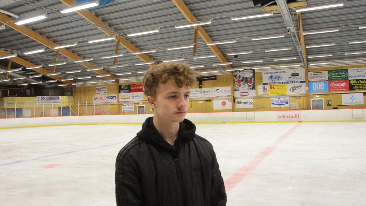 Hugo Söder efter fått Nicklas Lidström Priset 2017