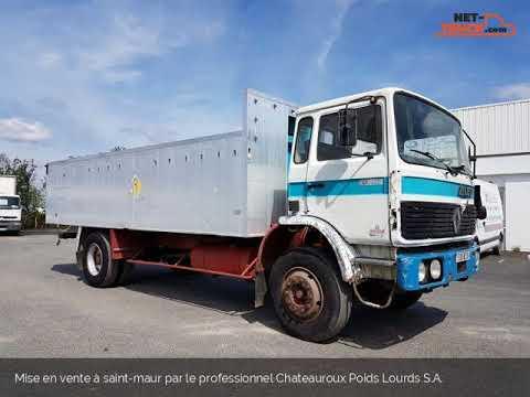 Camion porteur Renault GC Benne céréalière 191 Chateauroux Poids Lourds S.A.