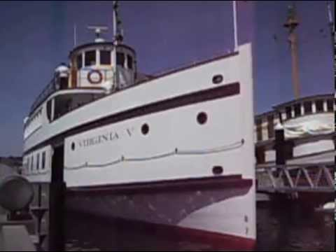 Steamship Virginia V departure and whistle