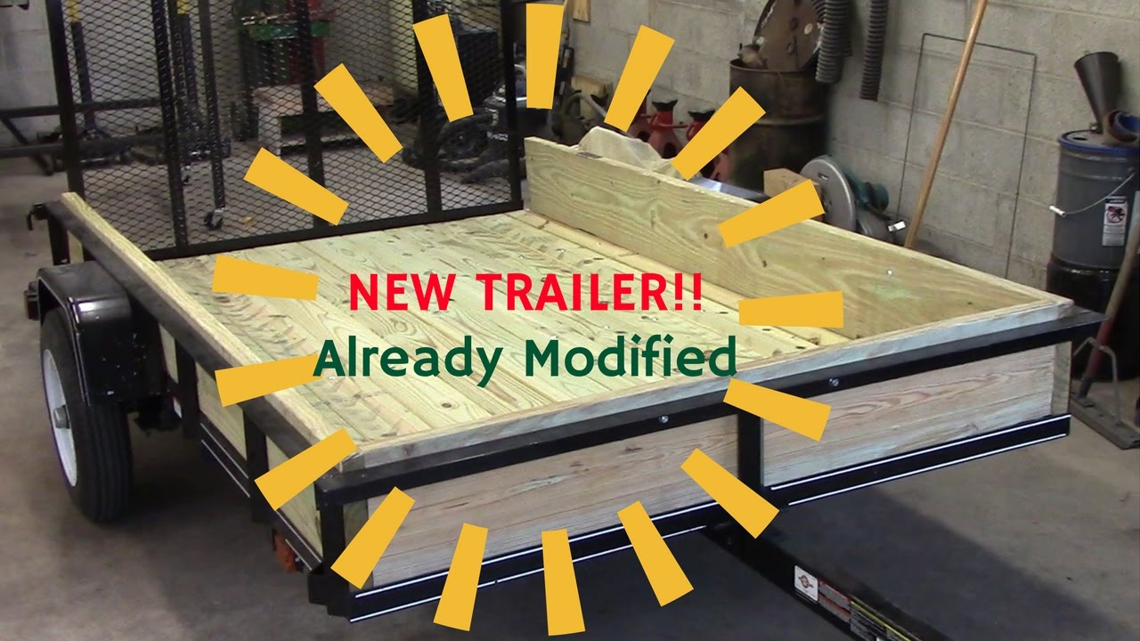 Upgrades to a wire mesh carry on brand trailer - YouTube