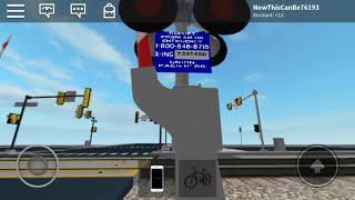 BNSF 5708 Passes By Harry Street Railroad Crossing (ROBLOX)