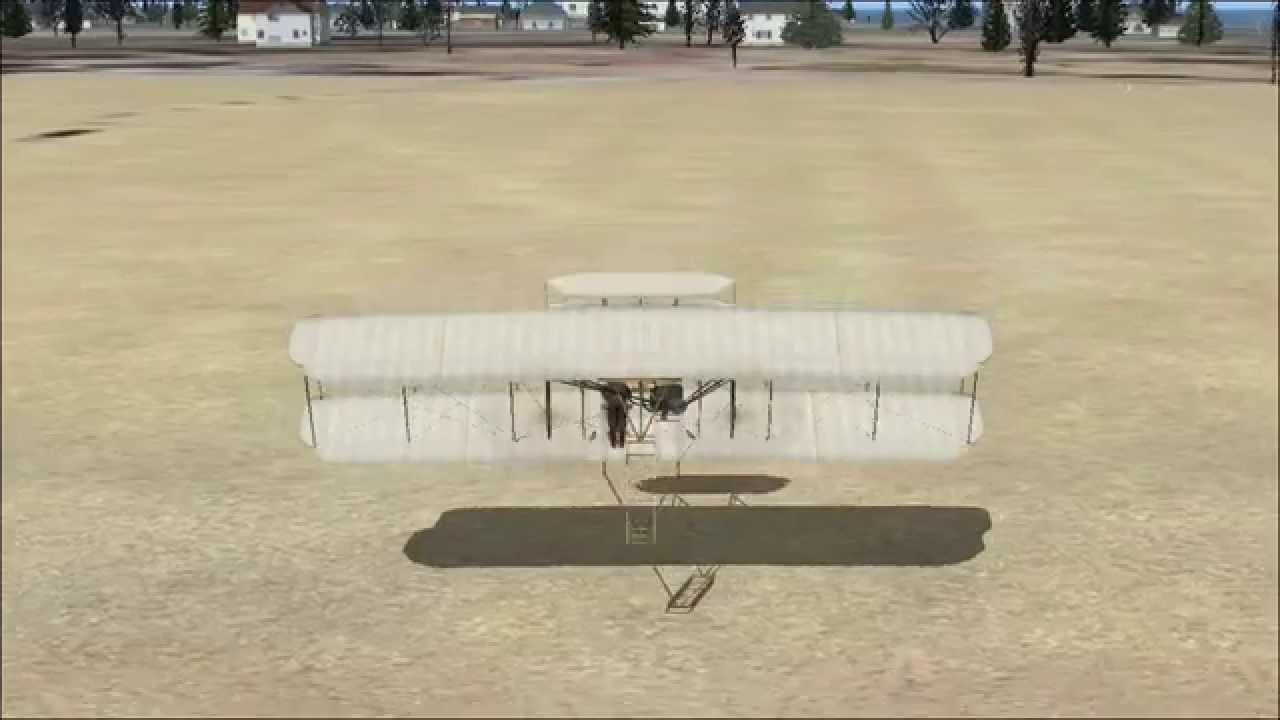 Wright Brothers Flight in hd fsx wright brothers first flight - youtube