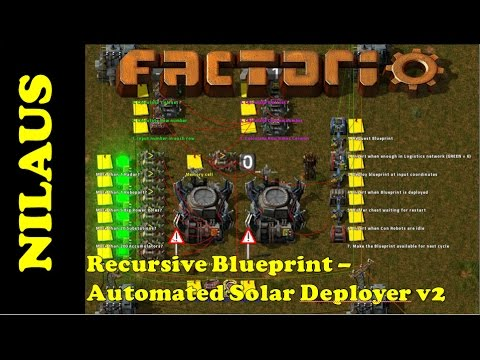 Factorio - Fully automated Solar farm Deployer (version 2)