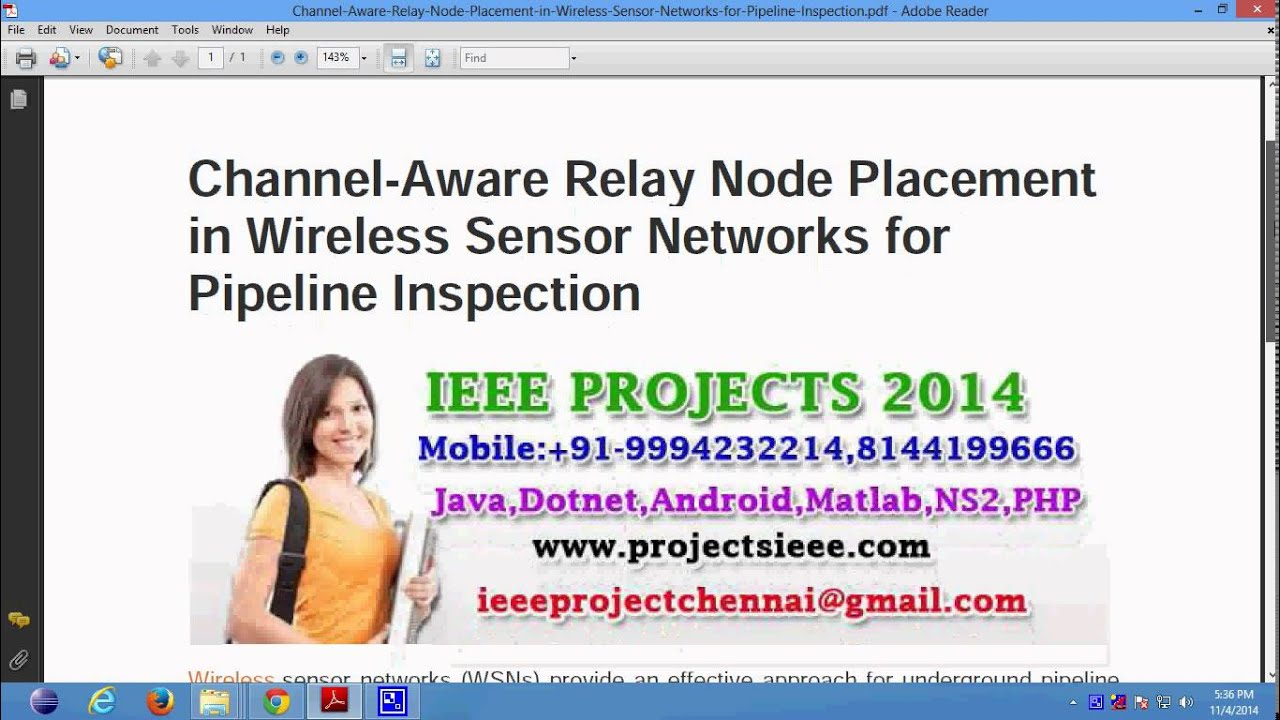 Channel Aware Relay Node Placement in Wireless Sensor Networks for Pipeline  Inspection